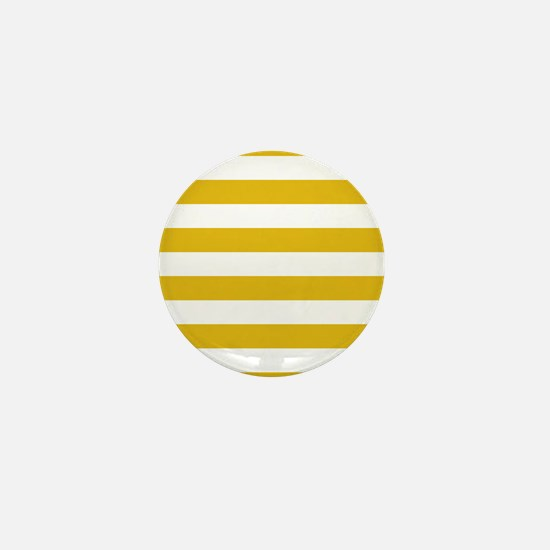 Mustard Yellow Horizontal Stripes Mini Button