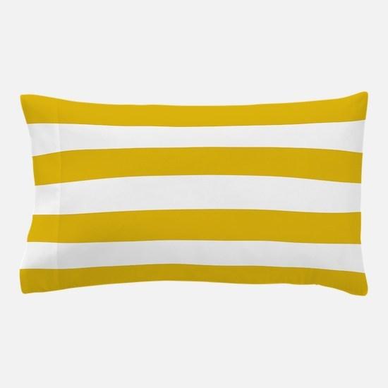 Mustard Yellow Horizontal Stripes Pillow Case