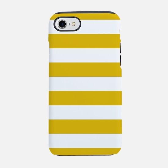 Mustard Yellow Horizontal Stripes iPhone 7 Tough C