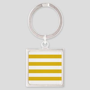 Mustard Yellow Horizontal Stripes Keychains
