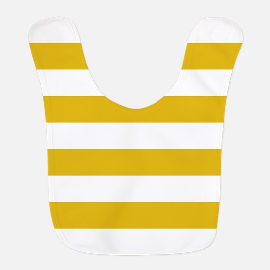 Mustard Yellow Horizontal Stripes Polyester Baby B