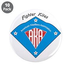 "AKA Fighter Kite Classic II 3.5"" Button (10 p"