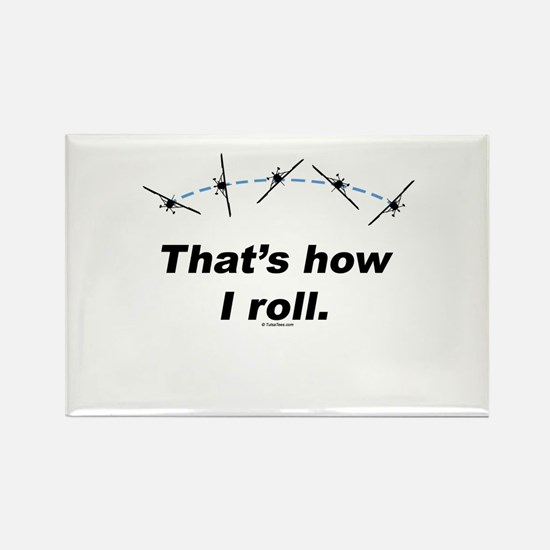 Airplane Roll Rectangle Magnet