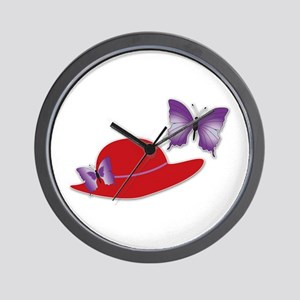 Red Hat Butterfly Wall Clock