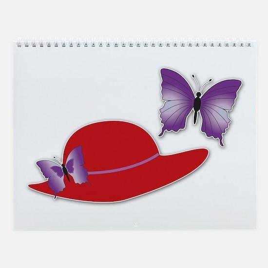Red Hat Butterfly Wall Calendar