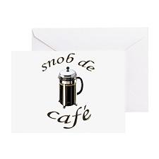 Coffee Snob Greeting Card