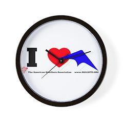 I love Sport Kites Wall Clock
