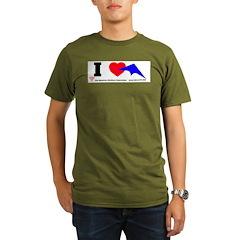 I love Sport Kites Organic Men's T-Shirt (dark)