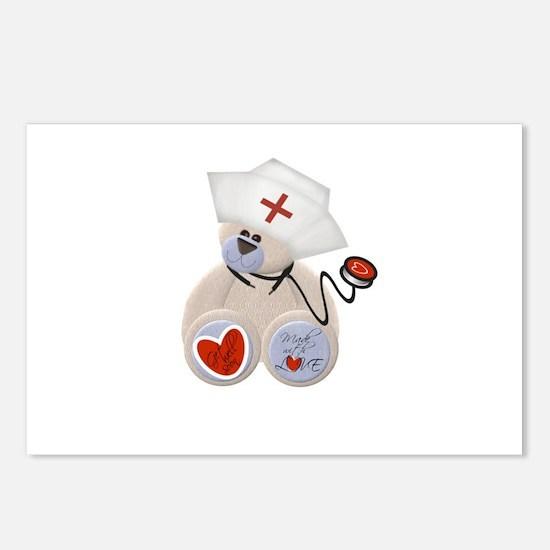 Nurse Bear Postcards (Package of 8)