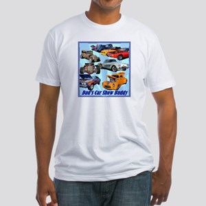 """Dad's Car Show Buddy"" Fitted T-Shirt"