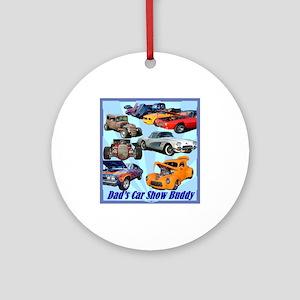 """Dad's Car Show Buddy"" Ornament (Round)"