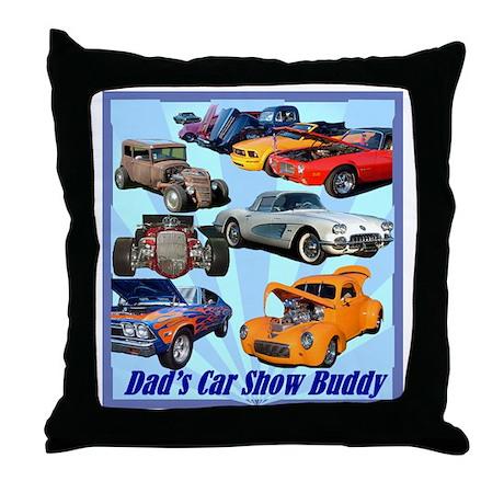 """""""Dad's Car Show Buddy"""" Throw Pillow"""
