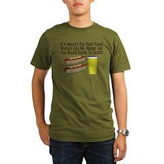 Fast Food Worker Organic Men's T-Shirt (dark)