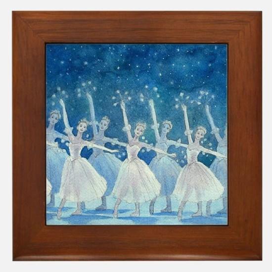 Dance of the Snowflakes Ballet Framed Tile