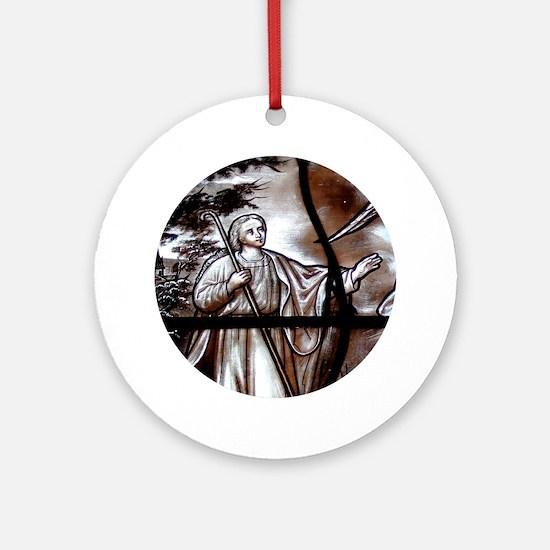 """""""Glass-vitrail 1-1"""" Ornament (Round)"""