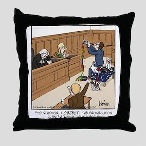 Entertaining the Witness Throw Pillow