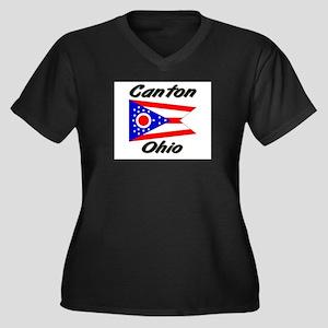 Canton Ohio Women's Plus Size V-Neck Dark T-Shirt