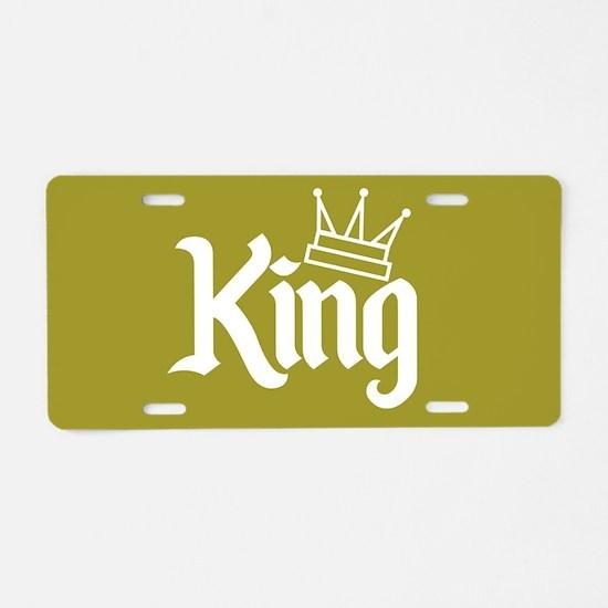 King Gold Aluminum License Plate