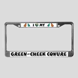 Green-Cheeked Conure License Plate Frame