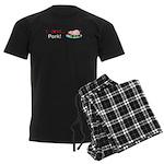 I Love Pork Men's Dark Pajamas