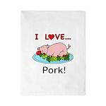I Love Pork Twin Duvet Cover