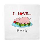 I Love Pork Queen Duvet