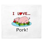 I Love Pork King Duvet