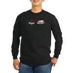 I Love Pigs Long Sleeve Dark T-Shirt