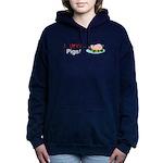 I Love Pigs Women's Hooded Sweatshirt