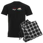 I Love Pigs Men's Dark Pajamas
