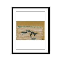 Bird in the Sand Framed Panel Print