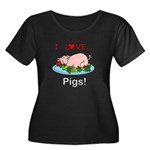 I Love P Women's Plus Size Scoop Neck Dark T-Shirt
