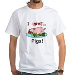 I Love Pigs Men's Classic T-Shirts