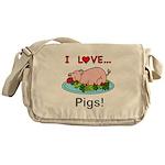 I Love Pigs Messenger Bag