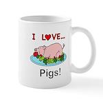 I Love Pigs 11 oz Ceramic Mug