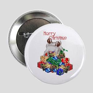 "Boer Goat Christmas 2.25"" Button (10 pack)"