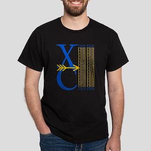 XC Run Blue Gold Women's Cap Sleeve T-Shirt