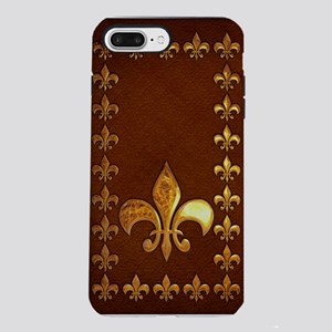 Old Leather with gold Fle iPhone 7 Plus Tough Case