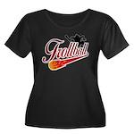 Trollball! Women's Plus Size Scoop Neck Dark T-Shi