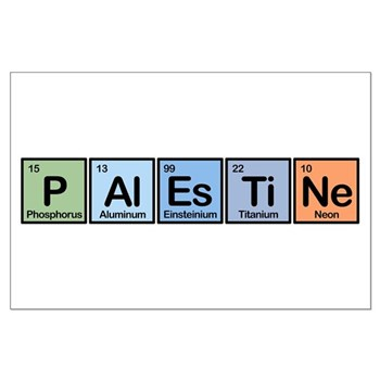 Palestine made of Elements Large Poster