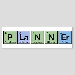 Planner made of Elements Bumper Sticker