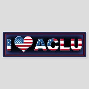 1 <3 ACLU Sticker (Bumper)