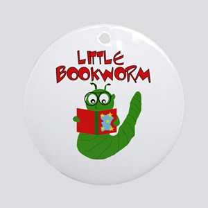 Little Bookworm Ornament (Round)