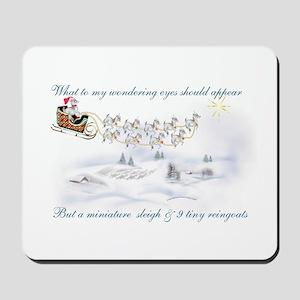 Pygmy ReinGoats Christmas Mousepad