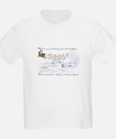 Pygmy ReinGoats Christmas Kids T-Shirt