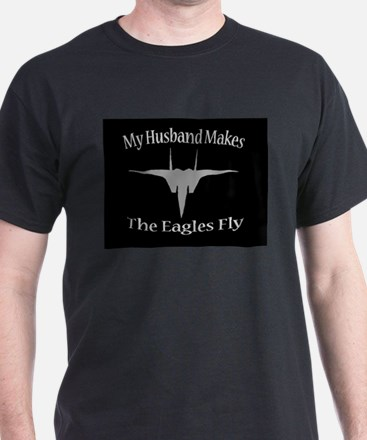 F-15 Husband, Black/Grey T-Shirt