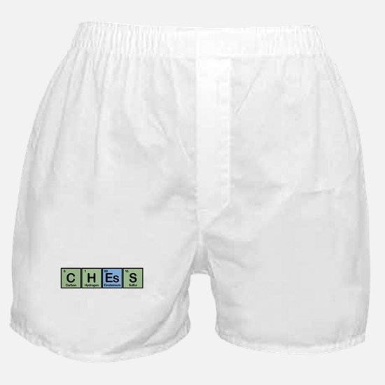Chess made of Elements Boxer Shorts