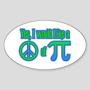 Peace of Pie Oval Sticker