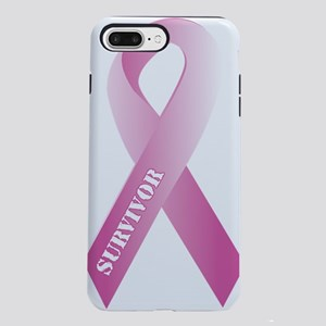 pink_ribbon_3d_survivor.p iPhone 7 Plus Tough Case
