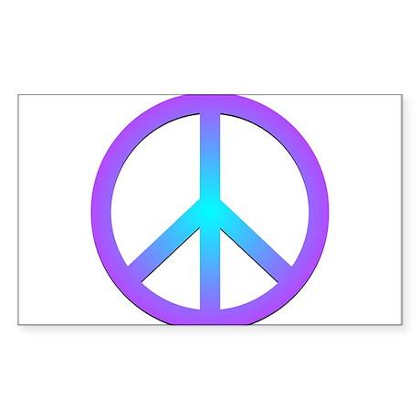 Peace! Rectangle Sticker